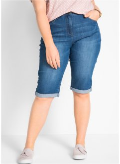 Bermuda en jean extensible à taille confortable, bpc bonprix collection