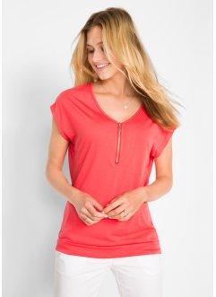 f7a34743e9 T-shirt avec zip, manches courtes, bpc bonprix collection