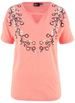 57ac12bf0489 T-shirt manches courtes en fil flamm eacute   agrave  ...