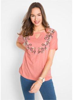 a98121ad8732 T-shirt manches courtes en fil flamm eacute   agrave  imprim eacute