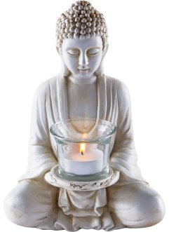 Statuette Bouddha avec photophore, bpc living bonprix collection