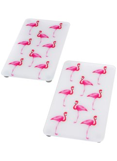 Plaques de protection Flamant rose (Ens. 2 pces.), bpc living