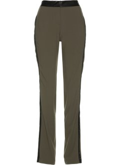 Pantalon avec bandes en satin, bpc selection