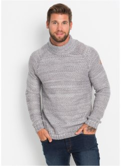 Pull col montant Regular Fit, RAINBOW