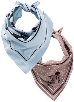 Lot de 2 foulards Mickey Mouse, bpc bonprix collection