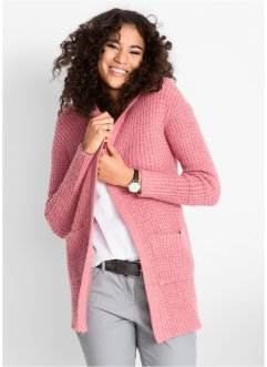 Gilet en maille à capuche, bpc bonprix collection