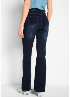 Jean push-up extensible à empiècement taille confortable, Bootcut, bpc bonprix collection