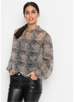Blouse en chiffon, serpent, BODYFLIRT