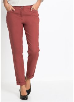 Pantalon chino extensible, délavage enzymatique, BODYFLIRT