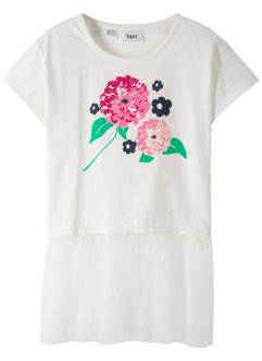 T-shirt avec volant en tulle, bpc bonprix collection