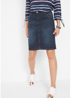 Jupe en jean extensible authentique, John Baner JEANSWEAR