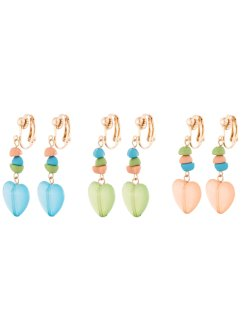 Boucles d'oreilles clips (Ens. 6 pces.), bpc bonprix collection