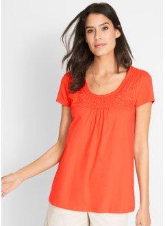 8a4bc4941f687 T-shirt coton à dentelle, manches courtes, bpc bonprix collection