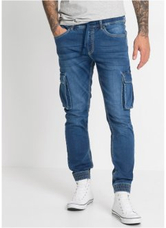 Jean Cargo Slim Fit Straight à enfiler, RAINBOW