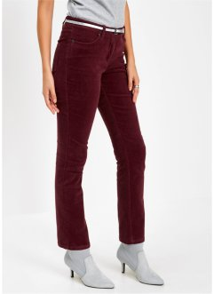 Pantalon extensible en velours côtelé, bpc selection