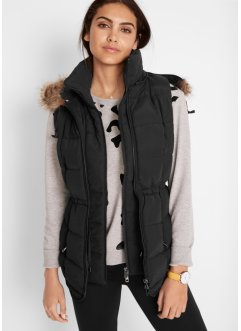 Gilet sans manches outdoor à capuche en style double épaisseur, bpc bonprix collection