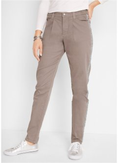 Pantalon carotte avec galon latéral en lurex, taille confortable, bpc bonprix collection