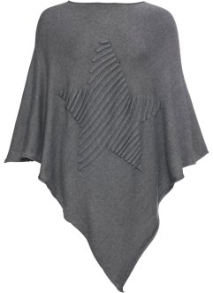 Poncho à motif étoile, bpc bonprix collection