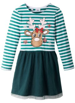Robe de Noël fille en jersey avec tulle, bpc bonprix collection