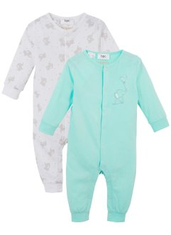Lot de 2 grenouillères bébé coton bio, bpc bonprix collection
