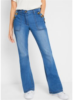 Jean durable en polyester recyclé, Bootcut, bpc bonprix collection