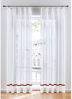 Voilage semi-transparent avec ruban satin (1 pce.), bpc living bonprix collection