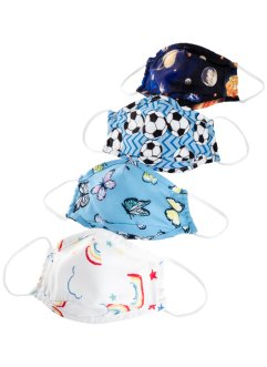 Lot de 4 masques en tissu Enfant, bpc bonprix collection