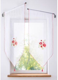 Vitrage en pointe avec broderie florale (1 pce.), bpc living bonprix collection