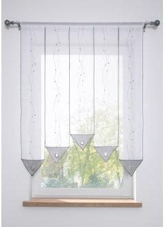 Rideau Brise-bise Transparent avec Passe-Tringle en Voile Simple et Moderne Disponible dans de Nombreuses Autres Couleurs