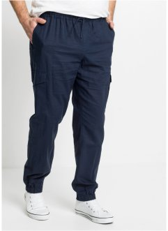 Pantalon cargo taille extensible à teneur en lin, Regular Fit, RAINBOW