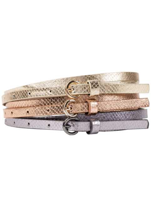 Ensemble 3 ceintures m eacute talliques, bpc bonprix collection dd9432d6c7b