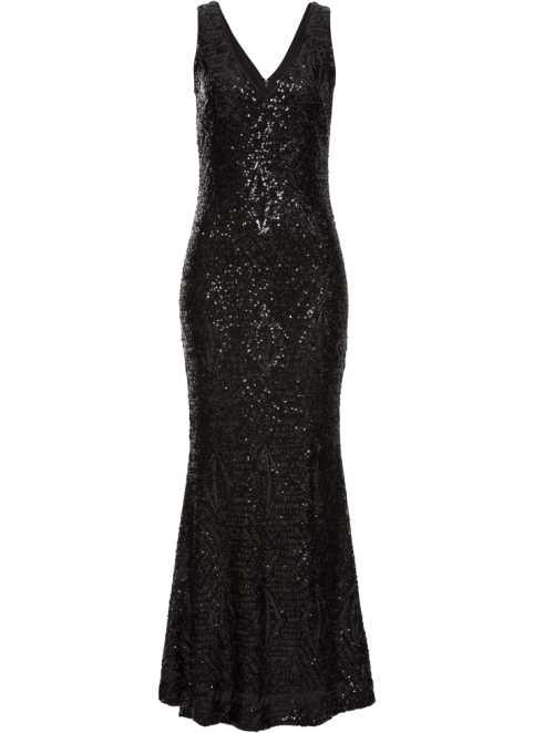 6bef1e63faa Robe à paillettes noir - Femme - BODYFLIRT boutique - bonprix.fr