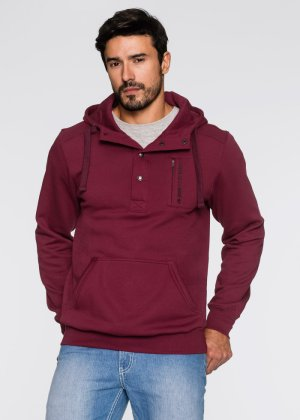 Sweat à capuche Regular Fit, John Baner JEANSWEAR, bordeaux