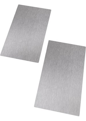 Plaques de protection en acier inoxydable ens 2 pces bpc living