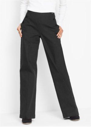 Pantalon large  agrave  d eacute tails boutons, bpc bonprix collection 85b90c7cf694