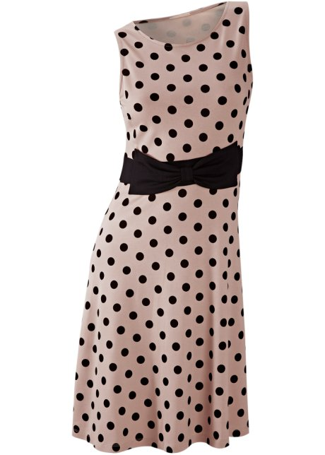 Robe pois marron