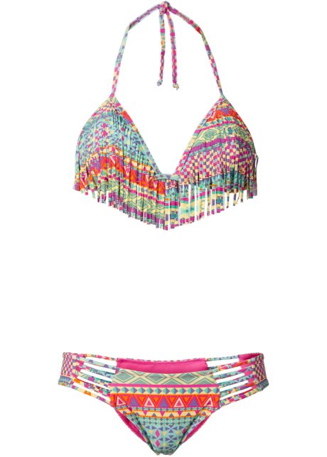 Bikini dos nu à franges (Ens. 2 pces.), RAINBOW, multicolore