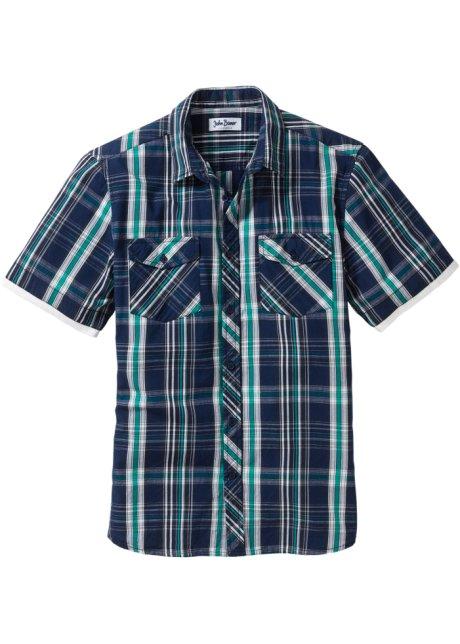 À Chemisette Carreaux Regular De Pur Fit Bleu Composée Coton Jean 8Ow8z 478fd2e77f0