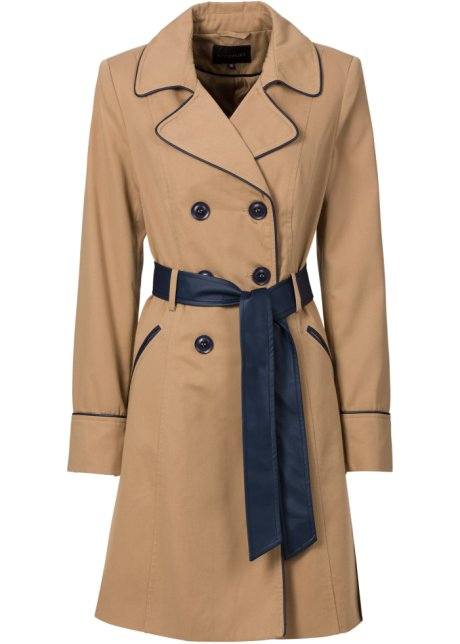 6129eb8173 Trench-coat camel mat - Femme - BODYFLIRT - bonprix.fr