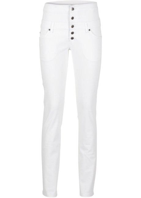 Pantalon taille haute blanc - RAINBOW - bonprix.fr 98cfd9ba7d60