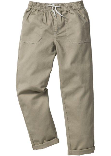 14e2fbec3bfe1 Pantalon chino à taille élastique sable - Enfant - John Baner ...