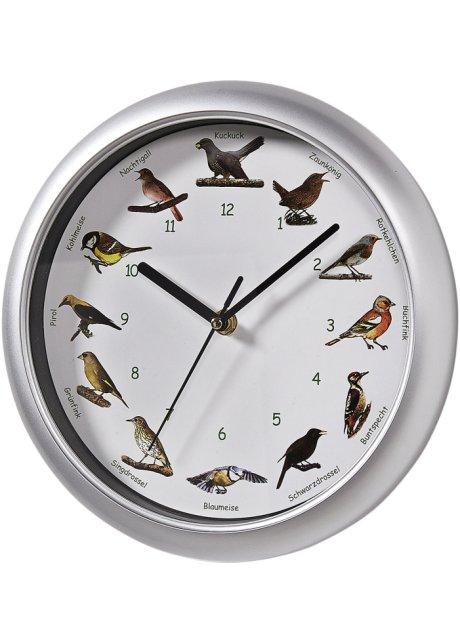 Horloge Murale Chants D Oiseau Multicolore Cadre Argente Maison Bonprix Fr