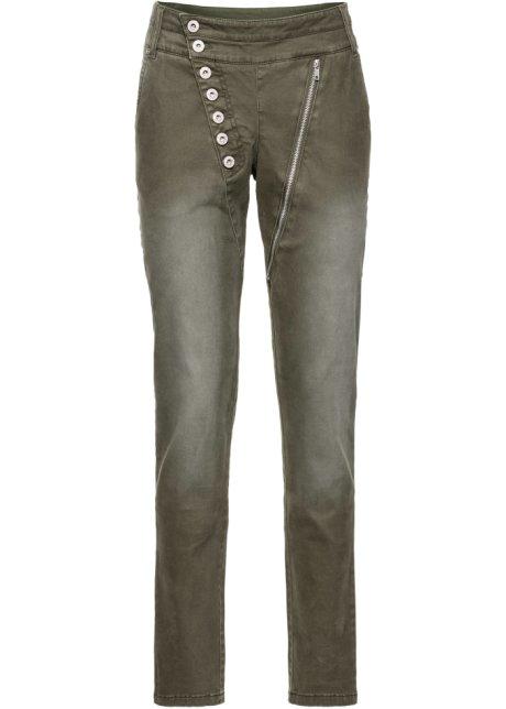 Pantalon Boutonnage Asymétrique De Extensible Patte Avec kiOZXTPu