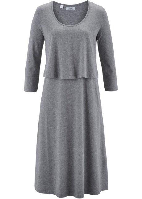 e810319b5da42 Robe style double épaisseur gris chiné - Femme - bonprix.fr