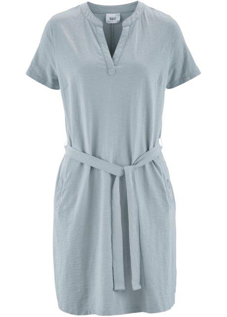 ed19b97f7753 Robe en jersey manches 1 2 gris argent - Femme - bonprix.fr