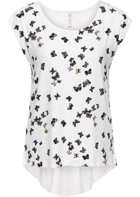 T-shirt avec coupe plus longue derrière que devant - imprimé papillon fba66cd51ecb