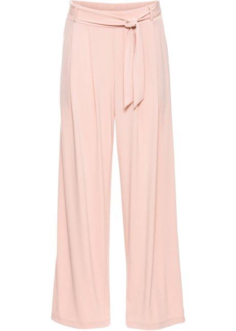 ace507e618c0 Pantalon large avec ceinture rose vintage - BODYFLIRT acheter online ...