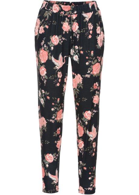 Pantalon Jogging Corail A Fleurs Femme Bodyflirt Bonprix Fr