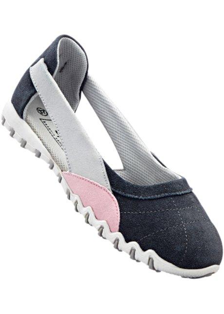 bpc bonprix collection Bonprix - Ballerines sport en cuir gris pour femme