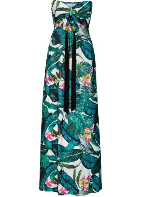 9afb959bed6 Robe longue estivale vert à fleurs - BODYFLIRT boutique - bonprix.fr